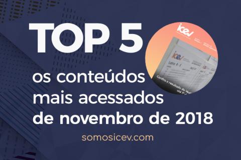 Confira os conteúdos mais acessados no nosso site em novembro