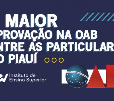 iCEV É 1º lugar na OAB Piauí entre as particulares!!!