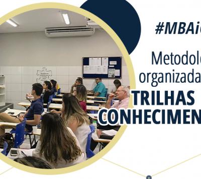 Metodologia organizada em trilhas do conhecimento, só nas pós-graduações e MBA iCEV!